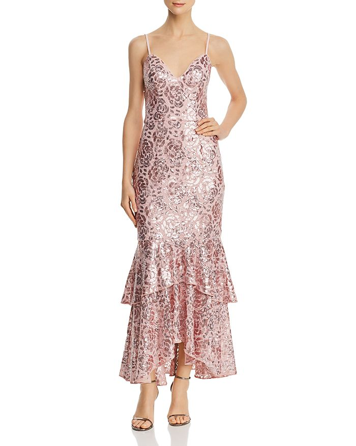 Avery G - Sequined-Lace Dress