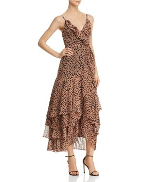 FAME AND PARTNERS | Fame and Partners Cheetah-Print Wrap Dress - 100% Exclusive | Goxip