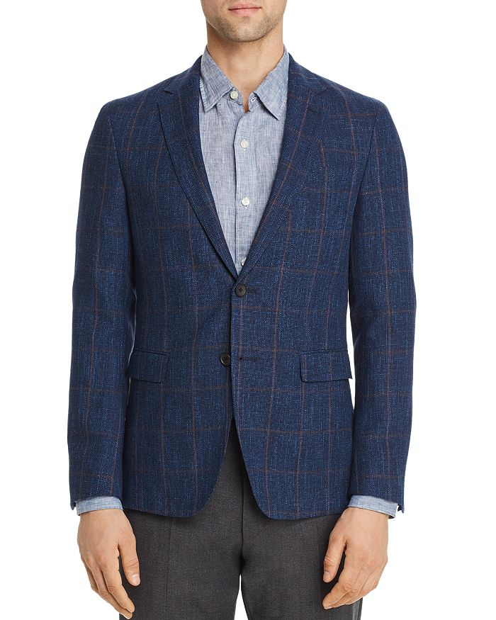 BOSS - Nobis Windowpane Slim Fit Sport Coat