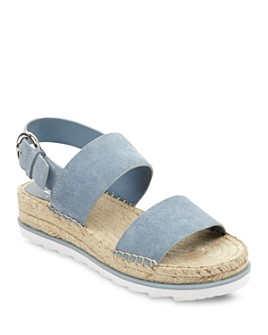 Marc Fisher LTD. - Women's Phebe 2 Embossed Suede Espadrille Platform Sandals