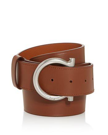 Salvatore Ferragamo - Men's Gancini D-Ring Buckle Leather Belt