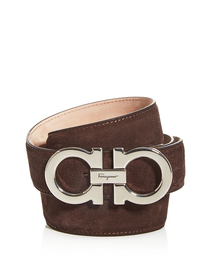Salvatore Ferragamo - Double Gancini Suede Belt