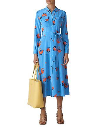 Whistles - Elfrida Floral Silk Dress