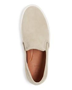 Frye - Men's Brett Perforated Suede Slip-On Sneakers