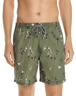 Sovereign Code - Beach Bum Splatter-Print Swim Trunks