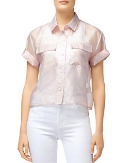 J Brand - Mabel Shimmery Cropped Shirt