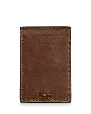 Shinola Wallets NAVIGATOR LEATHER MONEY-CLIP CARD WALLET