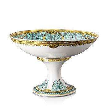"""Versace - La Scala del Palazzo Footed Bowl, 13.75"""""""