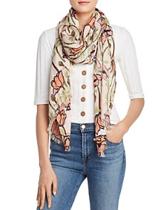 Tory Burch - Poppies Bloom Oblong Scarf