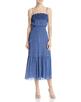 Rebecca Taylor - Metallic-Stripe Midi Dress