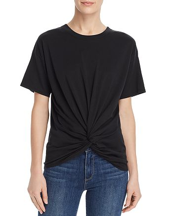 Joie - Kumie Twist-Front Pima Cotton Tee