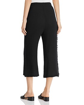 Red Haute - Cropped Wide-Leg Gauze Pants