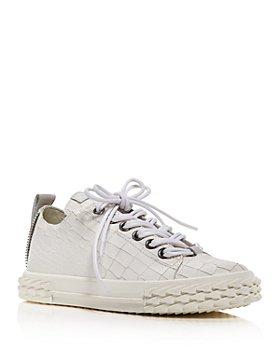 Giuseppe Zanotti - Women's Blabber Croc-Embossed Low Top Sneakers
