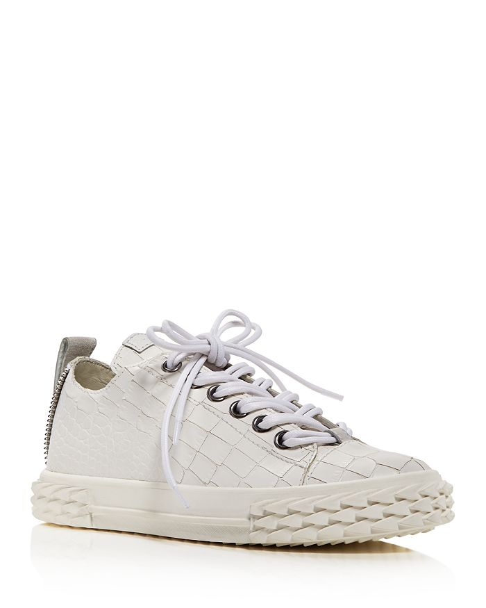 Giuseppe Zanotti - Women's Blabber Croc-Embossed Low Top Sneakers