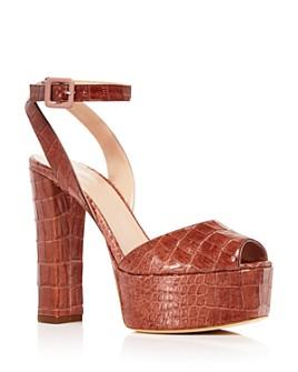 Giuseppe Zanotti - Women's Croc-Embossed Chunky Platform Sandals