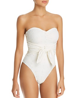 WeWoreWhat - Capri Eyelet One Piece Swimsuit