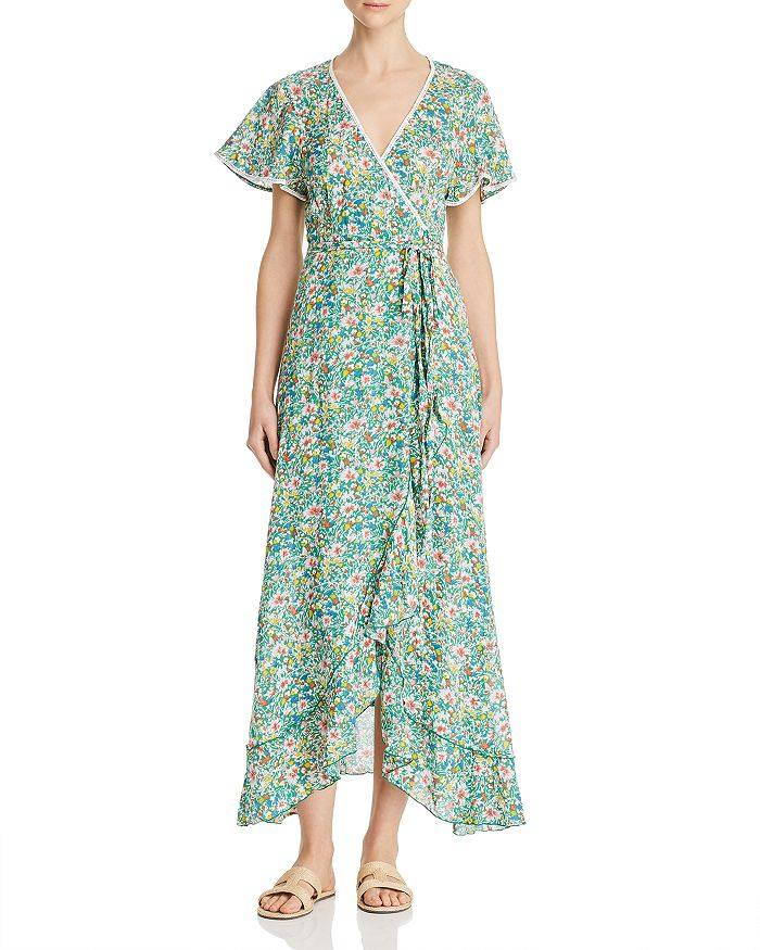Poupette St Barth JOE RUFFLED WRAP DRESS