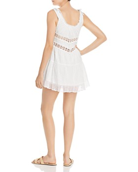 Rahi - Solstice Crocheted-Inset Mini Dress