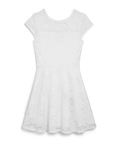 AQUA - Girls' Lace Fit-and-Flare Dress, Big Kid - 100% Exclusive