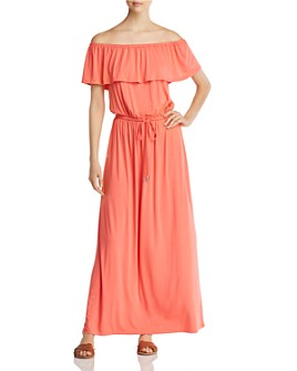 Cupio - Off-the-Shoulder Maxi Dress