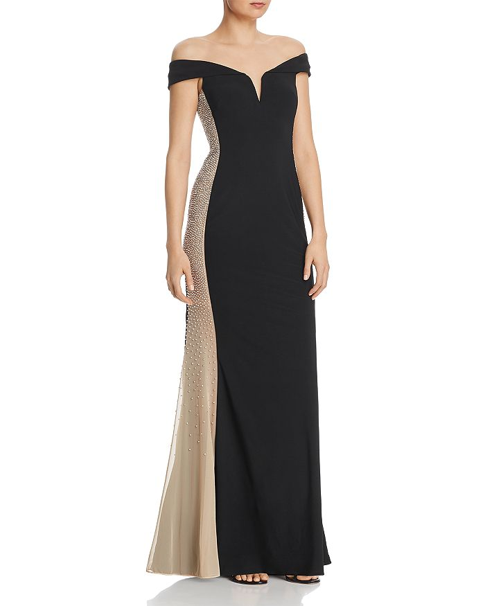 AQUA - Diamante Contrast Gown - 100% Exclusive
