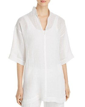 Eileen Fisher Petites - Organic Linen Tunic Top