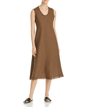 Eileen Fisher - Frayed Organic Linen Dress