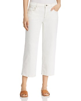 Eileen Fisher - Cropped Wide-Leg Jeans in Undyed Natural