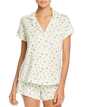 7a1e084309b Eberjey - Dianna Lemon-Print Shorts Pajama Set ...