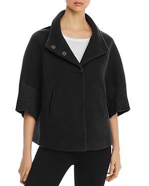 Herno Metallic Rib-Knit Cape Coat - 100% Exclusive-Women