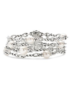 David Yurman - Sterling Silver Continuance® Pearl Chain Bracelet