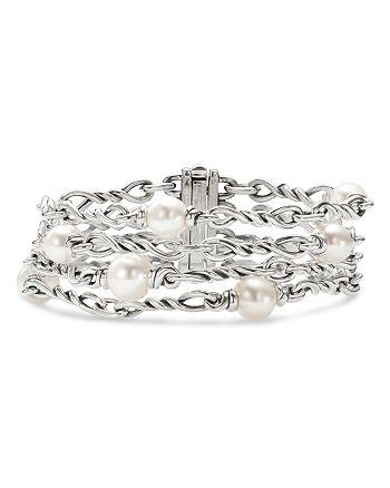 David Yurman - Sterling Silver Continuance® Pearl Chain Bracelet