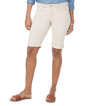 NYDJ - Briella Cuffed Denim Bermuda Shorts in Feather