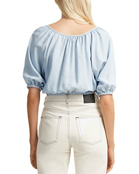 FRENCH CONNECTION - Julienne Shirred Cropped Top