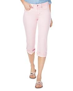 NYDJ - Marilyn Cuffed Cropped Jeans in Pink Dusk