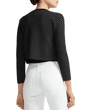 Maje - Malicia Striped Cropped Cardigan