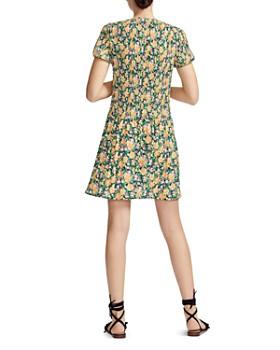 Maje - Rockinie Pleated Floral Dress