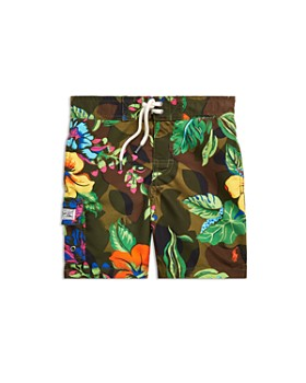 Ralph Lauren - Boys' Kailua Floral-Camo Swim Trunks - Big Kid