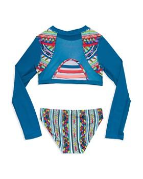 Gossip Girl - Girls' Rash Guard Two-Piece Swimsuit - Big Kid