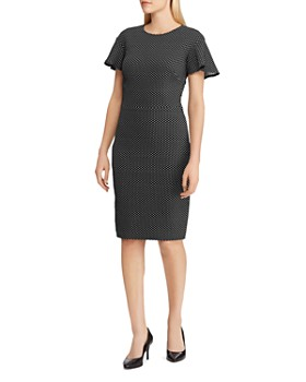 22cf39d294 Ralph Lauren - Polka-Dot Jacquard Dress ...