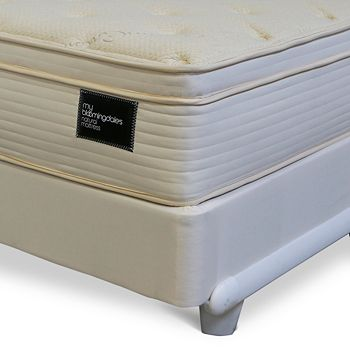 My Bloomingdale's - Twin Natural Euro Pillow Top Mattress & Box Spring Set - 100% Exclusive