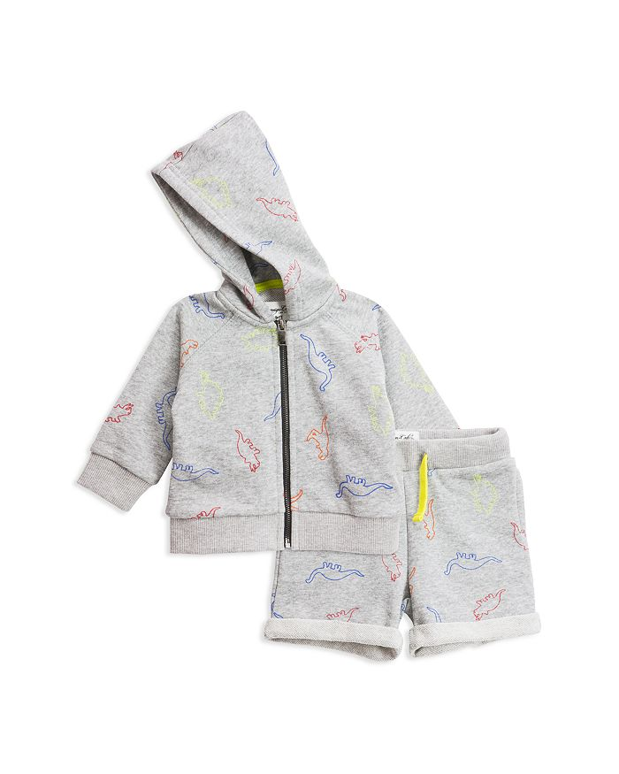 Sovereign Code - Boys' Tropical Vintage Car Print French Terry Zip-Up Hoodie & Shorts Set - Baby