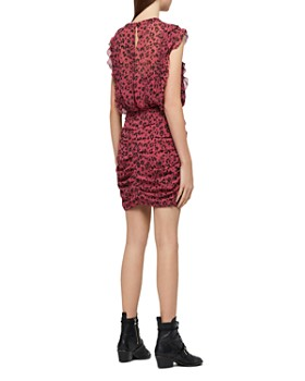 71727fa1ff1f ... ALLSAINTS - Hali Roar Ruched Leopard Print Dress
