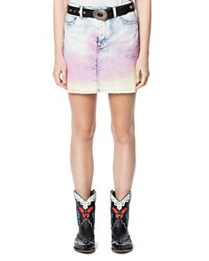 Zadig & Voltaire - Juicy Tie-Dyed Denim Mini Skirt
