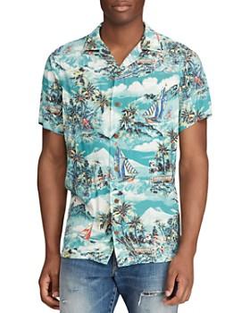 Polo Ralph Lauren - Short-Sleeve Tropical-Print Classic Fit Shirt - 100% Exclusive
