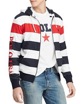 Polo Ralph Lauren - Americana Striped Terry Hoodie