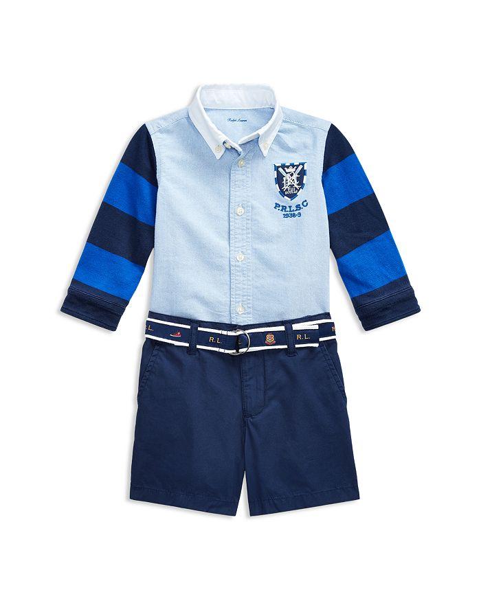 Ralph Lauren - Boys' Rugby Shirt, Belt & Cargo Shorts Set - Baby