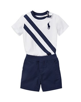 Ralph Lauren - Boys' Graphic Tee & Reversible Shorts Set - Baby
