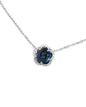 Pasquale Bruni - 18K White Gold Ton Joli - Je T'aime London Blue Topaz Pendant Necklace, 17""
