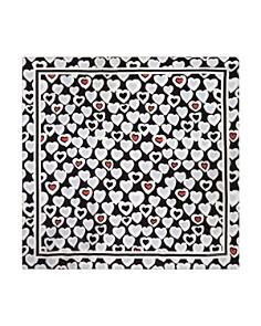 Armani - Heart Print Mulberry Silk Scarf